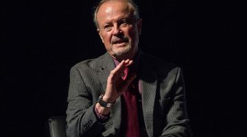 Human rights activist and moderator Richard Lapchick on stage during the Beyond Sport United 2016 at Barclays Center on August 9, 2016 in Brooklyn, New York. (Photo by Roy Rochlin/Getty Images)