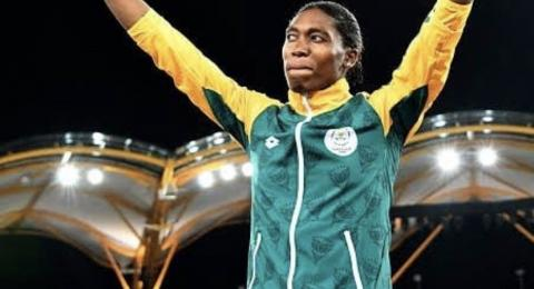 800m Olympic gold medalist Caster Semenya embracing the cheers from the crowd