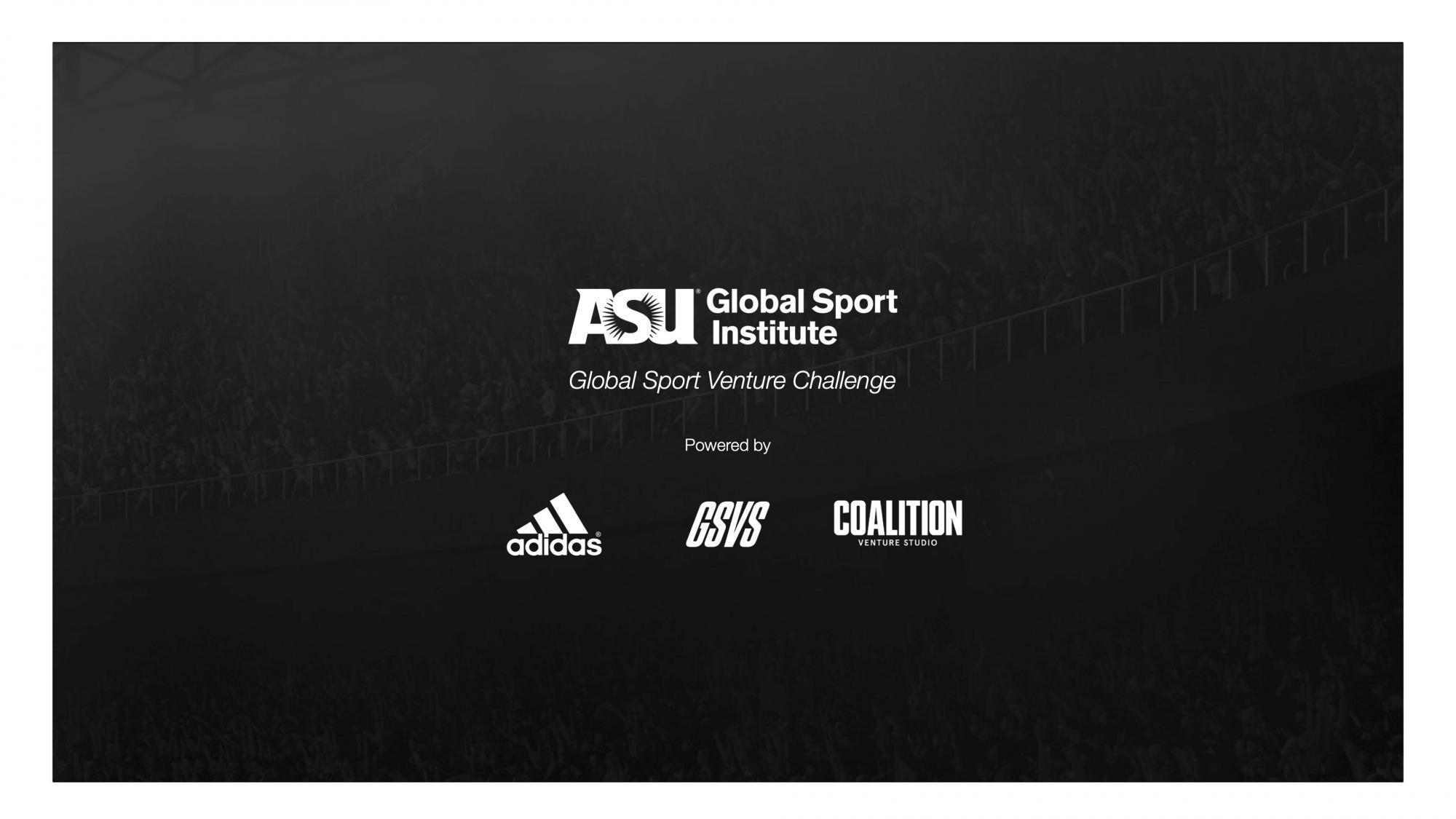 Logos for Global Sport Institute, adidas, GSVS, and Coalition Venture Studio