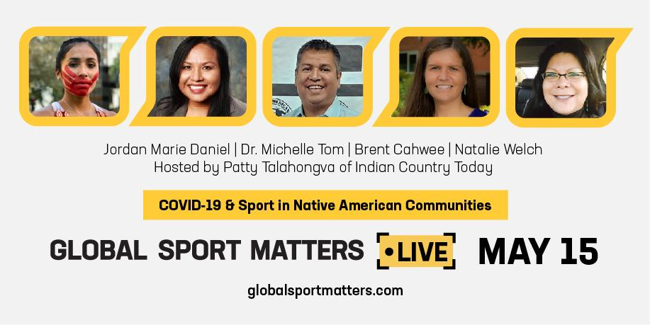 GSM Live lineup of speakers: Brent Cahwee, Patty Talahongva, Natalie Welch, Dr. Michelle Tom, and Jordan Marie Daniel